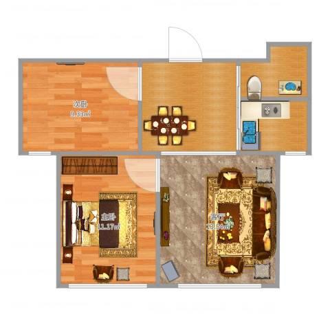 上台花园2室1厅0卫0厨59.00㎡户型图
