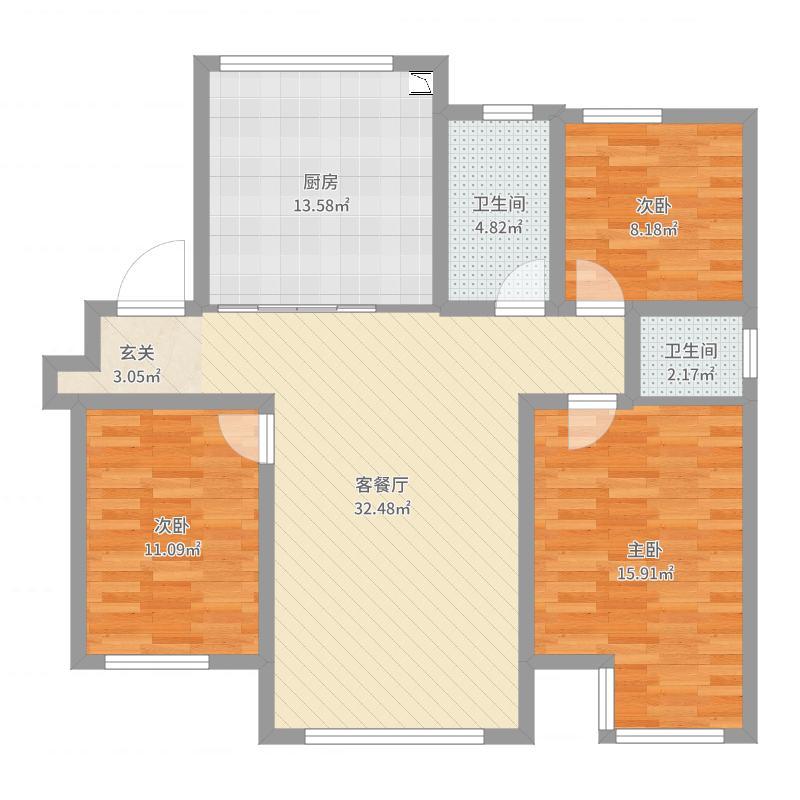 天津_庆福北里_2017-06-22-2156户型图