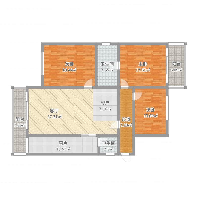 阳光花园一期2栋3单元06-11户型图