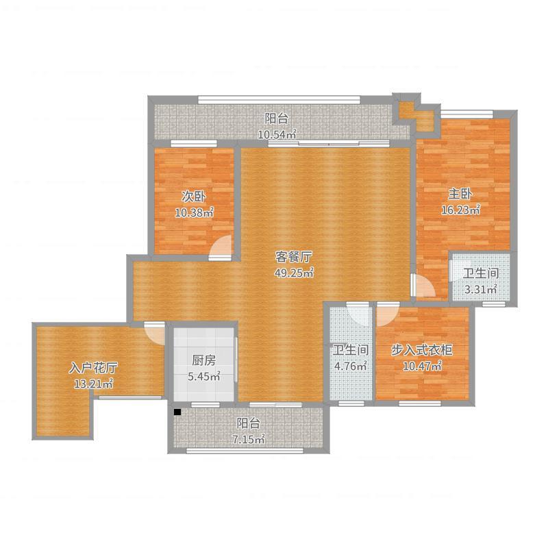 中亚和园9号楼西单元201户型图