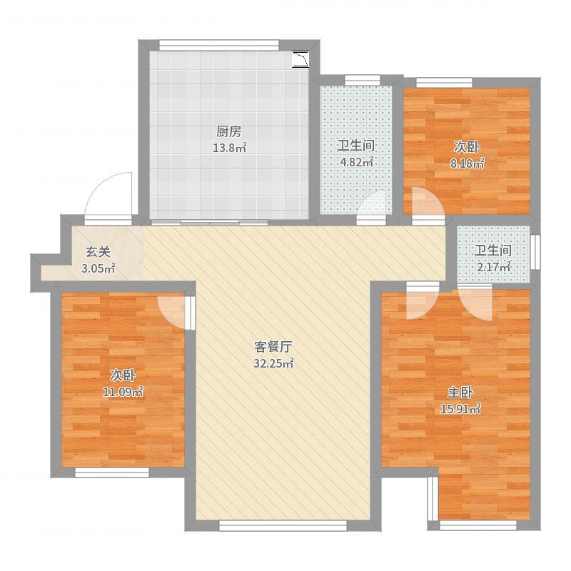 天津_庆福北里_2017-06-23-0839户型图