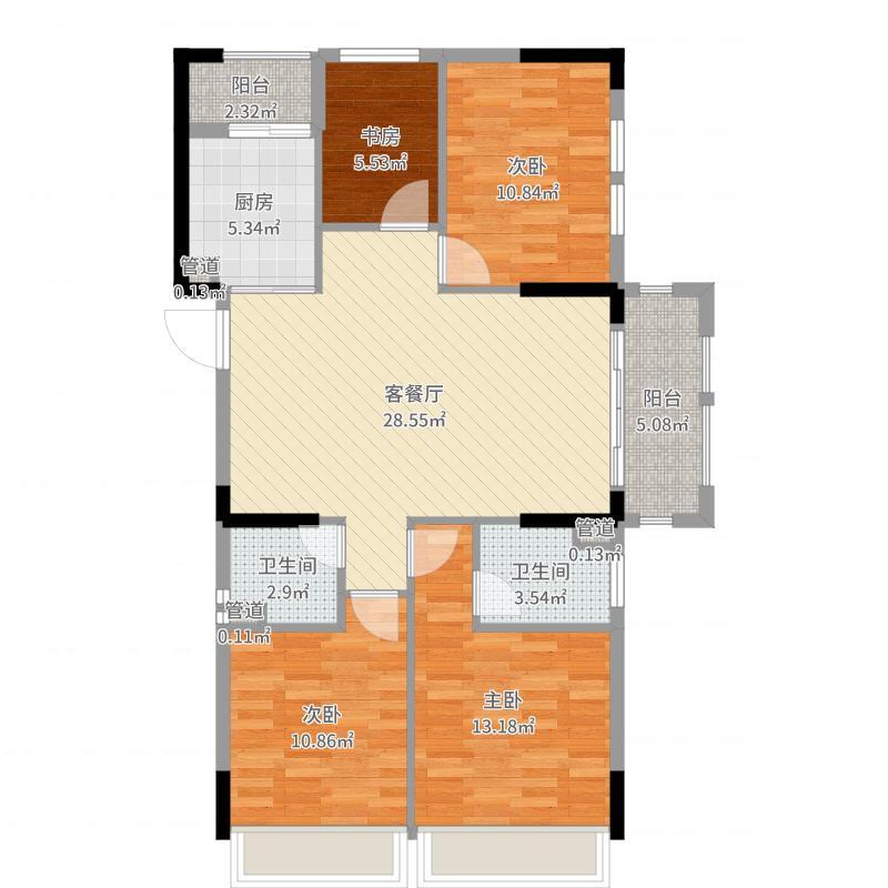 南通_悦达巴黎公馆3-606_2017-06-23-1502户型图