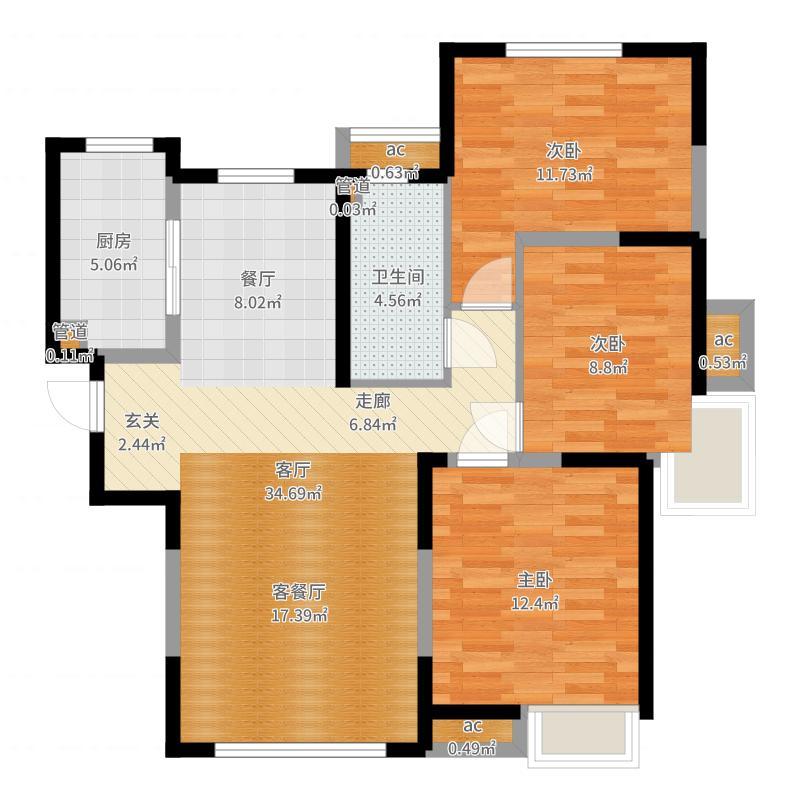 天津_南益名士华庭_2017-06-23-1144户型图