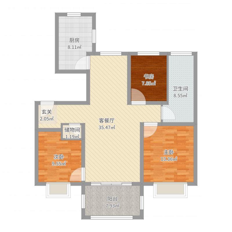 万科·新酩悦115平-副本-副本户型图