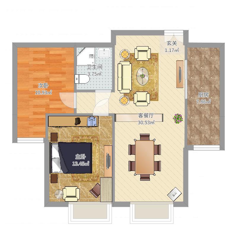 财富官邸A1--1户型-副本-副本户型图