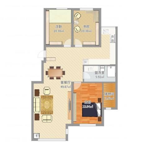 美和蓝湾3室2厅0卫0厨117.00㎡户型图