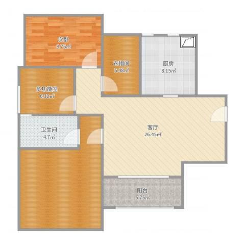 牡丹花园8栋2单元3061室1厅1卫1厨106.00㎡户型图