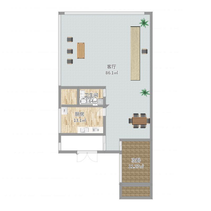 三层客厅层户型图