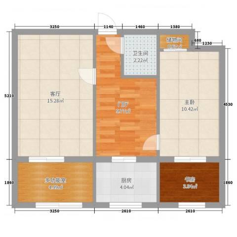 西城区黑窑厂小区2室1厅1卫1厨62.00㎡户型图