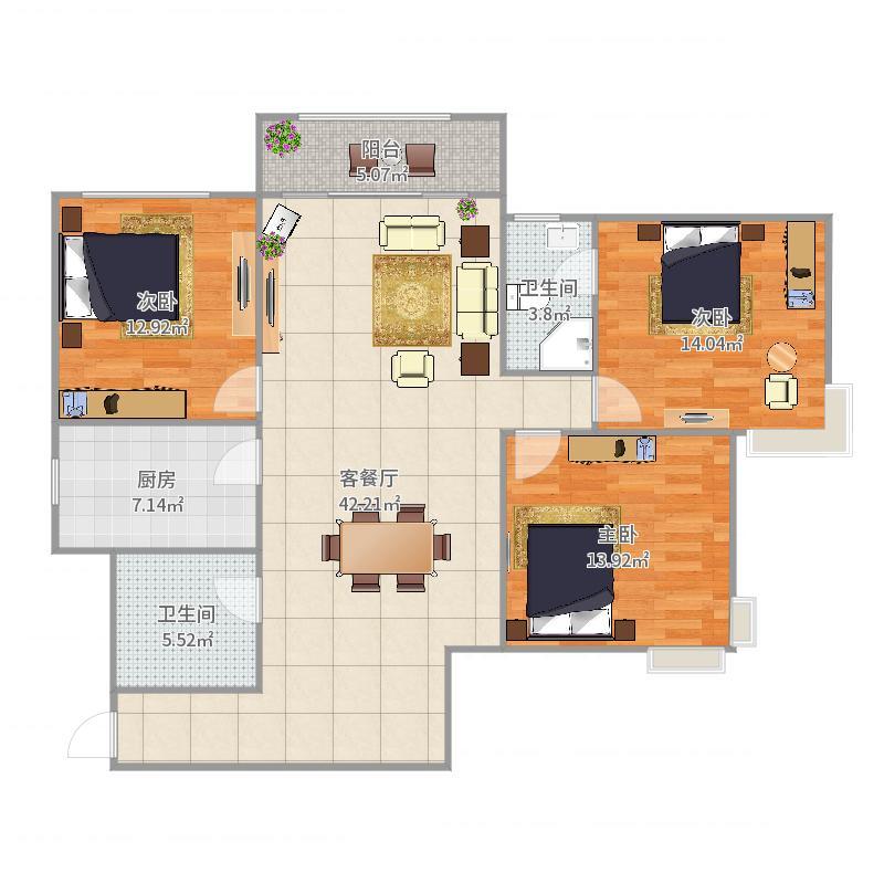 嘉馨公寓户型图