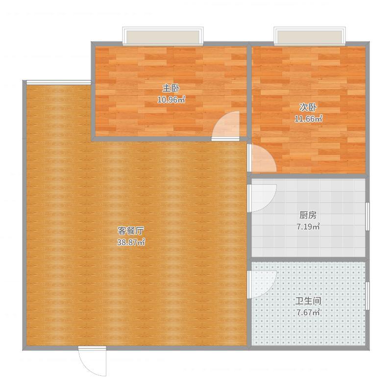 汇龙2室中门户型图