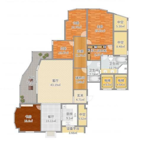 君悦花园4室2厅2卫1厨299.00㎡户型图