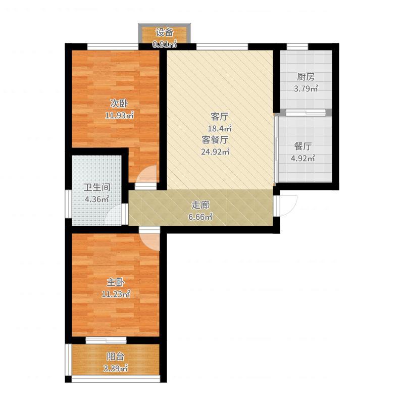 石家庄_尚河明珠96平_2017-06-24-1206户型图