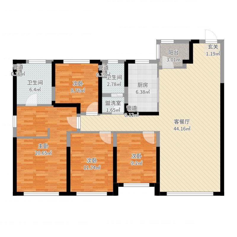 沈阳_旭辉锦堂_2017-06-24-1744户型图