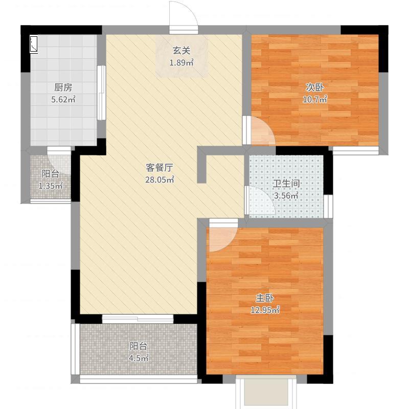 无锡_华仁・凤凰郡_81-402A-2户型图