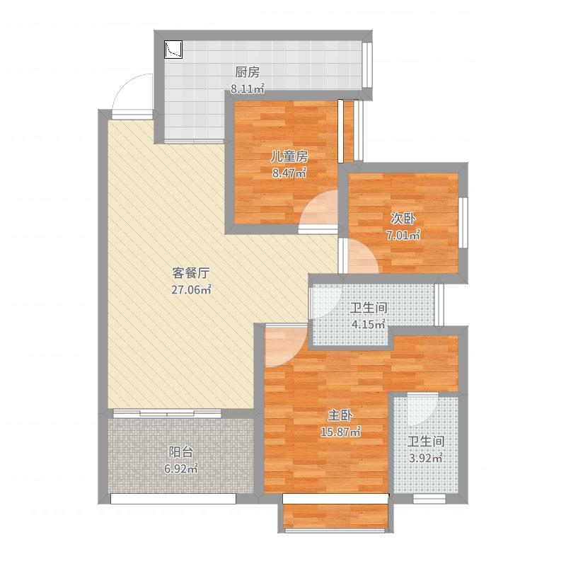 重庆_国奥村_一单元8号楼11-2户型图