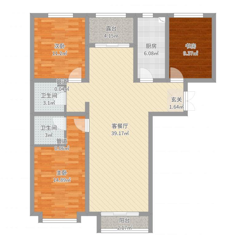 渤海豪庭户型图