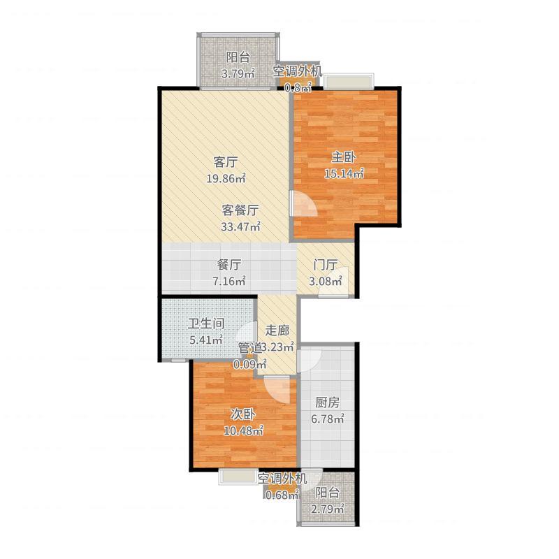 彩虹街区户型图