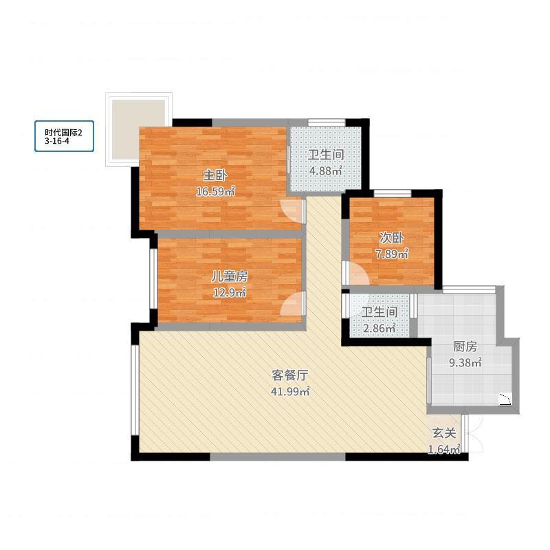 重庆_时代国际_2017-06-25-0116户型图