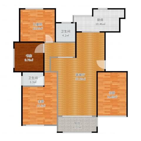 映像江南4室2厅2卫1厨154.00㎡户型图