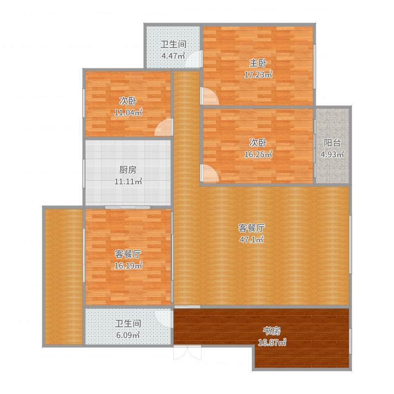 湖南八号大院5栋2单元404-副本户型图