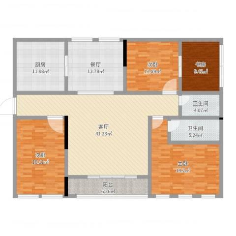 皇都佳苑4室2厅2卫1厨178.00㎡户型图