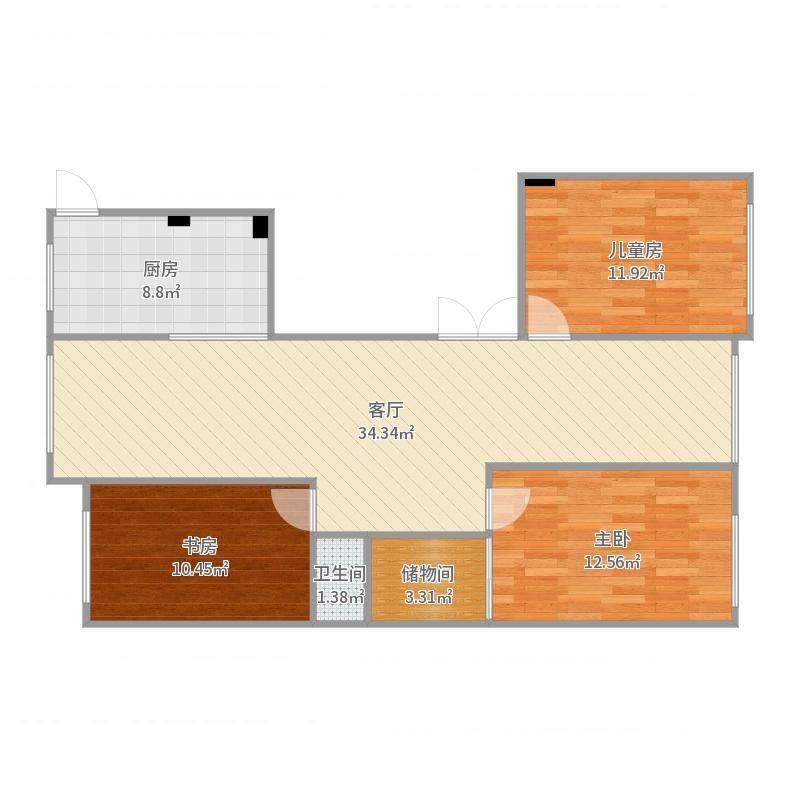 中央公园13号楼1单元24楼户型图