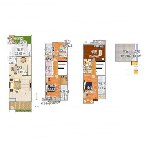 新光天地4室1厅4卫1厨336.00㎡户型图