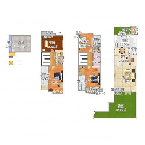 新光天地4室2厅4卫1厨379.00㎡户型图