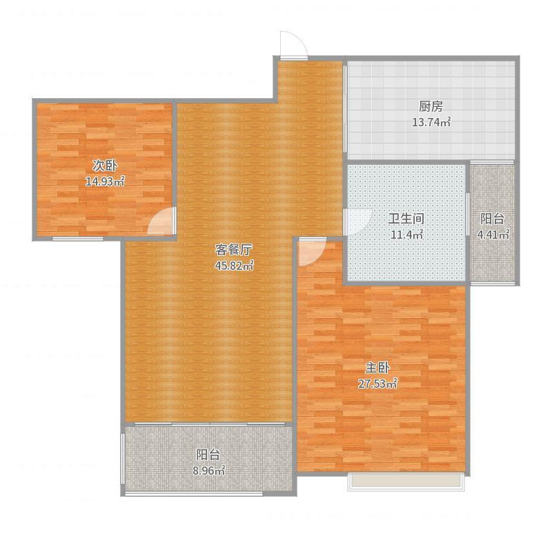 九龙仓时代上城A6-1002户型图