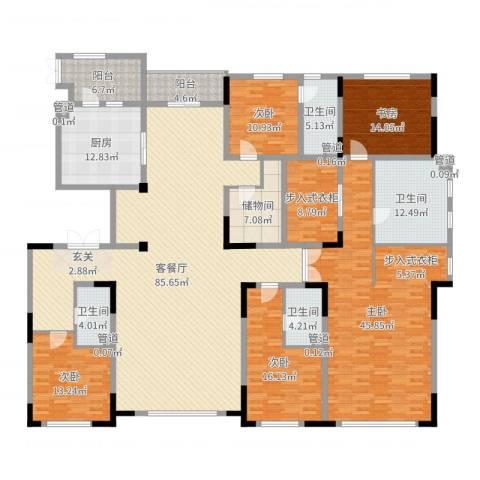 中海紫金苑5室2厅4卫1厨315.00㎡户型图
