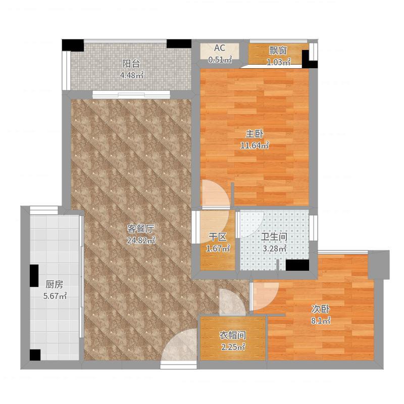 MYHOME(设计师方案)-改餐厅+厨房户型图