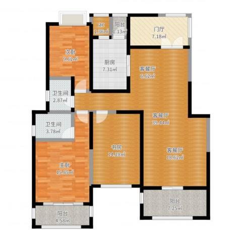 金科王府3室2厅2卫1厨143.00㎡户型图
