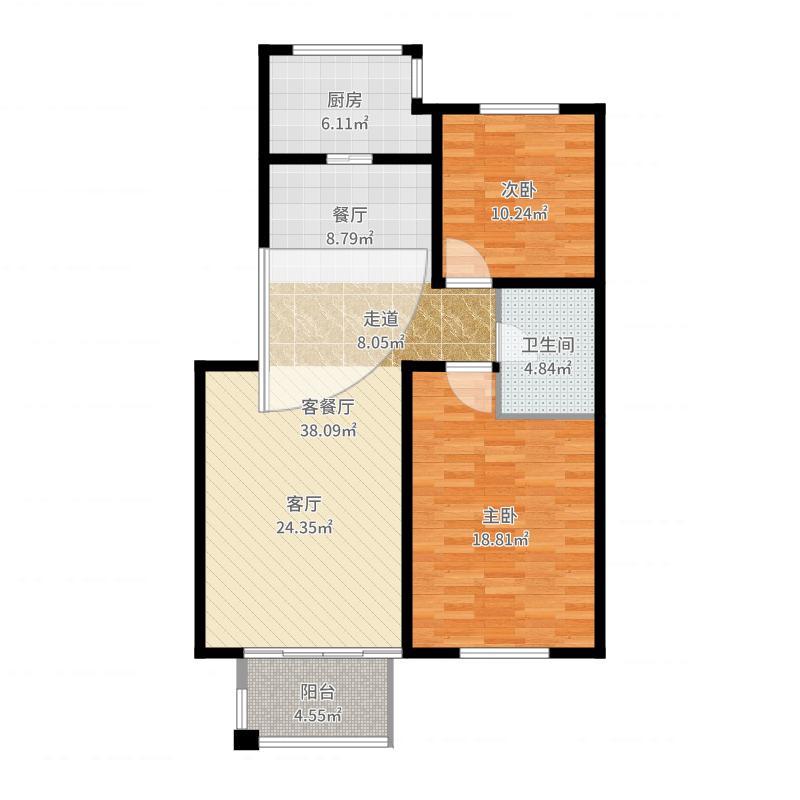 绿城百合公寓户型图