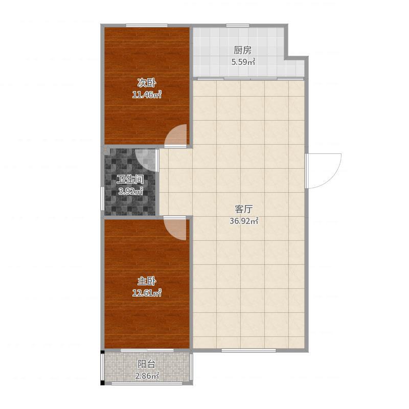 保定_汇金公寓_2017-06-26-1436户型图