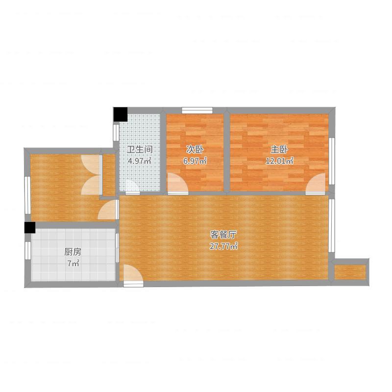 华润凯旋门102-副本户型图