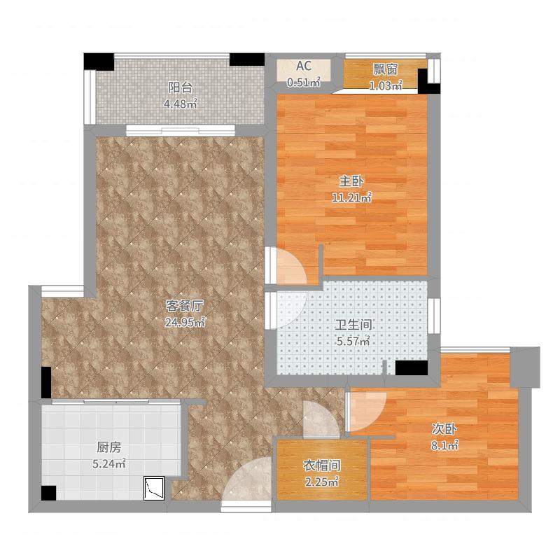MYHOME(设计师方案)-改餐厅+大卫生间户型图