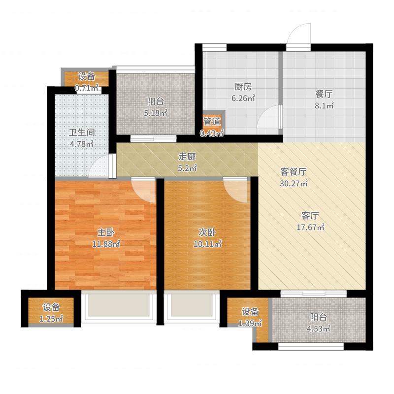 中海8号公馆户型图