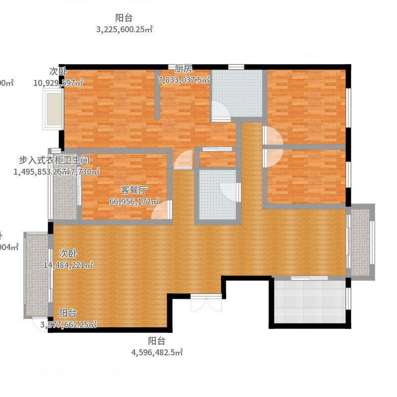 燕大星苑红树湾229.91㎡G12户型4室2厅2卫-副本-副本户型图