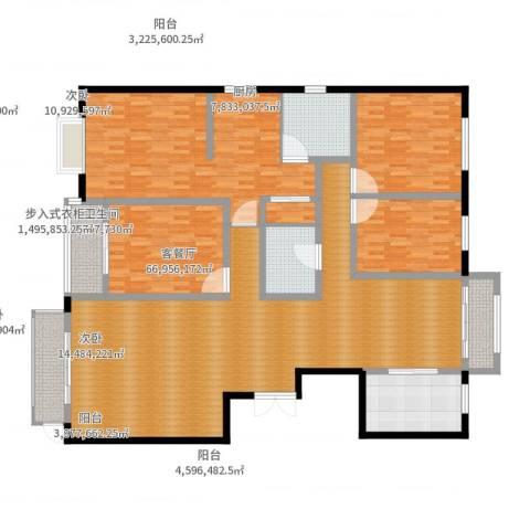 燕大星苑红树湾4室2厅2卫1厨242.00㎡户型图