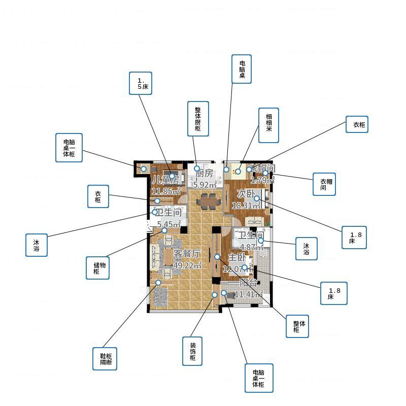 黄先生揭阳榕城自建房-设计天林-副本户型图