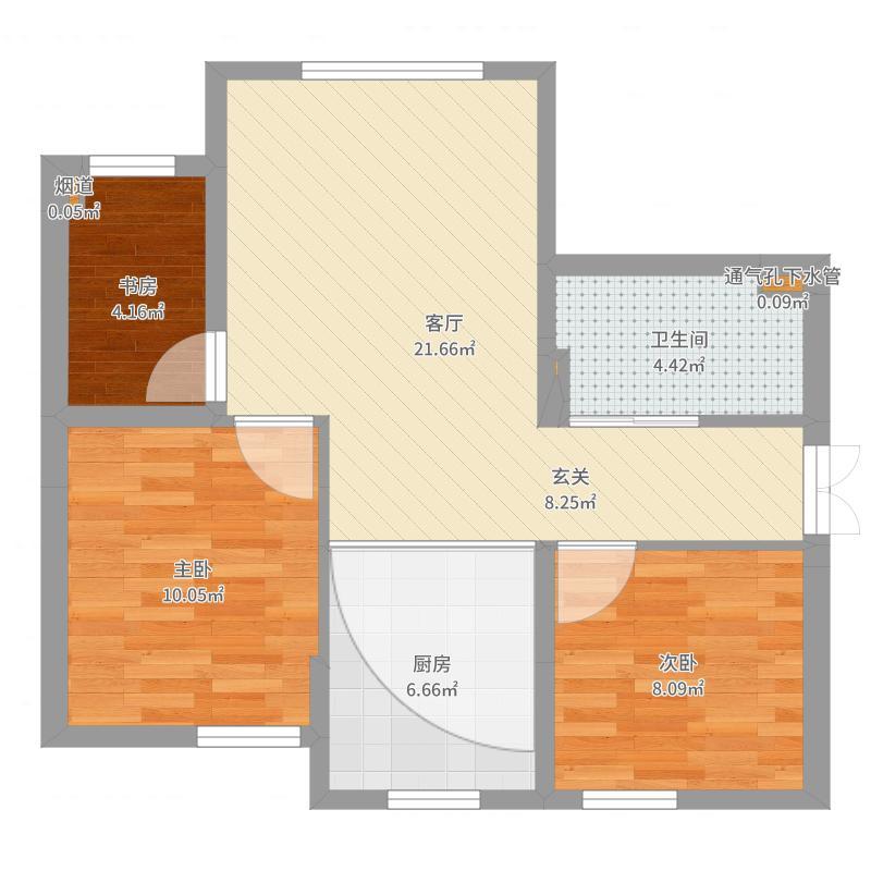 白墙;白色门、口、线;西墙3米直条沙发-副本-副本-副本户型图