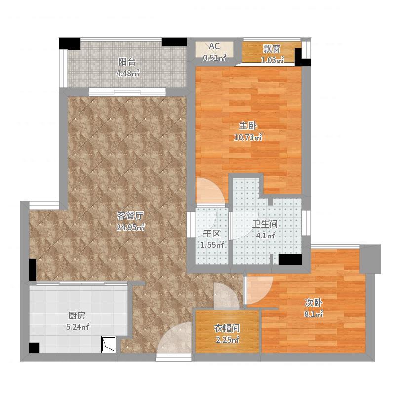 MYHOME(设计师方案)-改餐厅+主卧增加淋浴房户型图