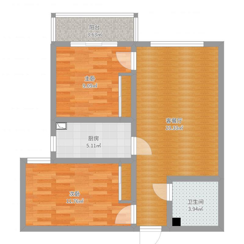 御泽嘉园 15号楼 3单元 1702户型图