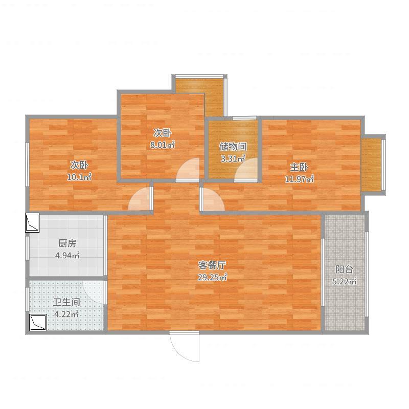 东戴河御海龙湾2区3室户型图