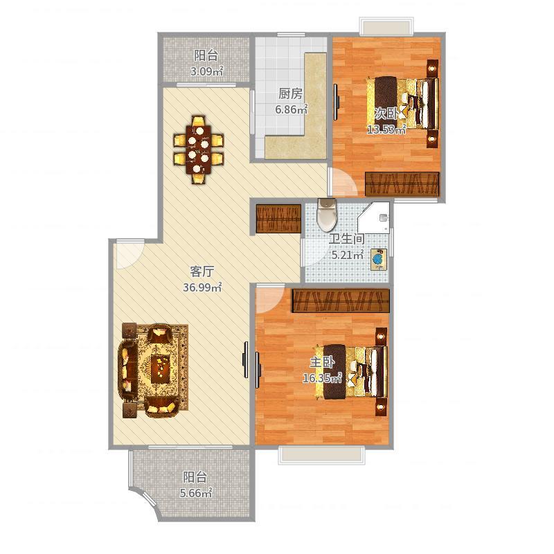 普陀-上海家园-设计方案户型图