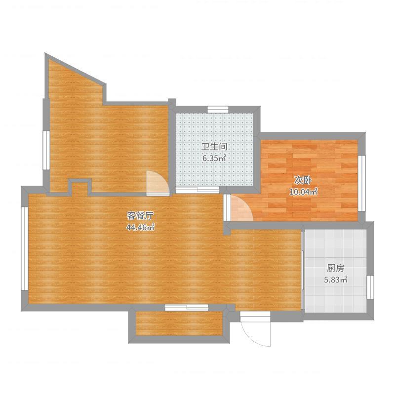 东城天下13楼李女士住宅-副本户型图