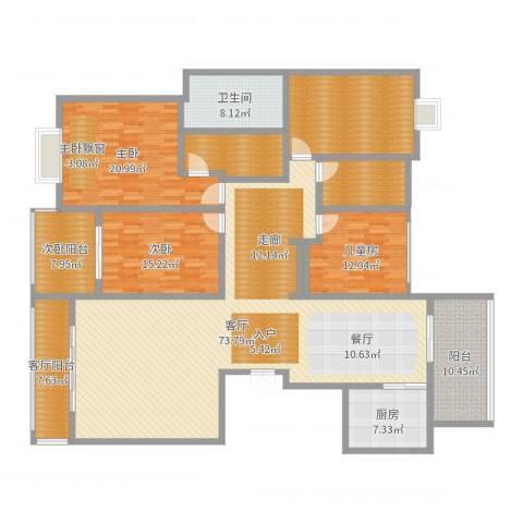 阳光尚居宾馆3室1厅1卫1厨239.00㎡户型图