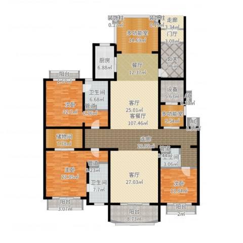 荣禾曲池东岸3室2厅3卫1厨300.00㎡户型图