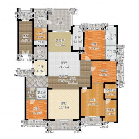 荣禾曲池东岸4室2厅5卫1厨320.00㎡户型图